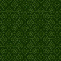 Green Damask Christmas Digital Paper