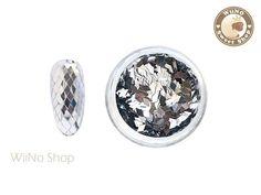 Silver 2 x 3mm Diamond Shapes Glitter / Nail Art Craft