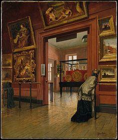 Frank Waller (American, 1842–1923). Interior View of the Metropolitan Museum of Art when on Fourteenth Street, 1881.