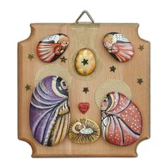 Christmas Pebble Art, Christmas Rock, Christmas Nativity, Christmas Crafts, Diy And Crafts, Arts And Crafts, Pet Rocks, Stone Art, Stone Painting