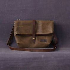 Waxed canvas bag JUNE brown