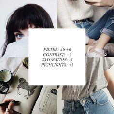 Filtro: A6 +6 Contraste: +2 Saturscion: -1 Realce: +3