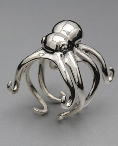 Octopus Ring - lower profile than many, a bit more daily wear