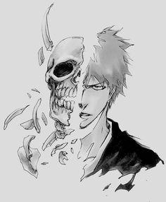 bleach, ichigo kurosaki, and anime image Bleach Manga, Ichigo Manga, Bleach Drawing, Ichigo Y Orihime, Manga Anime, Manga Art, Anime Guys, Bleach Anime Art, Bleach Ichigo Hollow