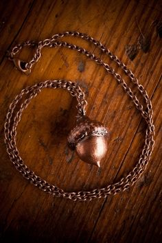 Copper Acorn Necklace by Kendal Croix Jewelry