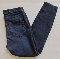 "Gap 1969 High Rise Skinny Jeans 28 6 S Short Dark Slim Stretch Denim 28"" 2014  #GAP #LeggingsSlimSkinny"