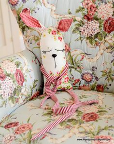 DIY Vintage Hanky Bunny Plushie | My So Called Crafty Life