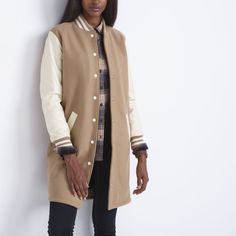 Long Sorority Jacket |Women's Leather Jackets and Coats | Roots