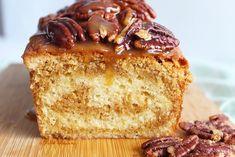 Vanille cake met salted caramel swirl – Annabella's – Foodblog Pie Cake, Pound Cake, No Bake Cake, Swirl Cake, Nutella Cake, Cupcakes, Okra, High Tea, Vanilla Cake