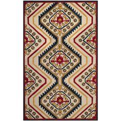 Safavieh Aspen Southwestern Hand-Tufted Ivory/ Multi Wool Area Rug (4' x 6') (APN701A-4), Size 4' x 6'
