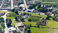 Aerial photo of the Jelling monument site. © ABC Jelling 28-5-2012