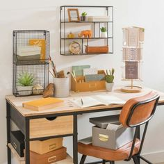 Home Decoration on Maisons du Monde. Take a look at all the furniture and decorative objects on Maisons du Monde. Long Island, Desk Storage, Desk Organization, Industrial Desk, Industrial Style, Black Metal Chairs, Yellow Desk, Comfy Armchair, Desk Inspiration
