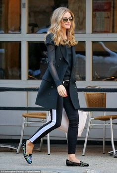 THE OLIVIA PALERMO LOOKBOOK By Marta Martins: Olivia Palermo and Johannes Huebl in New York's West Village.