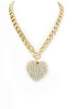 'Crystal Heart' Charm Necklace