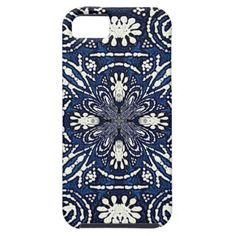 sold 1 Indigo Batik Inspired Tribal Style Cover For iPhone 5/5S