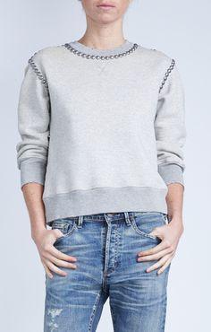Camryn Sweatshirt in Studded Heather - Denim - CITIZENS of HUMANITY