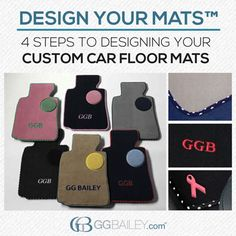 Want to design your own custom car floor mats? GGBailey.com gives you thousands of combination possibilities. Our latest block breaks down the four steps to design your own floor mats. Click to check it out.
