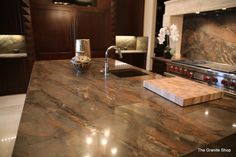 Kitchen : Copper Dune 3cm from Aria Stone Gallery Dallas, TX Tops fabricated and installed by The Granite Shop Lewisville, TX Interior Deisgner: Alana Villanueva, AVID Associates Dallas, TX