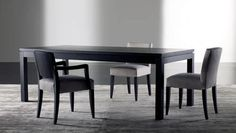 Mesa de comedor moderna de madera maciza DOUGLAS MERIDIANI