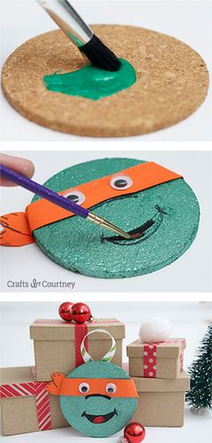 Easy Kids Christmas Ornaments - Teenage Mutant Ninja Turtles