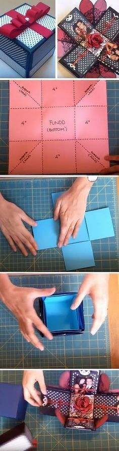 Explosion Box | Click Pic for 22 DIY Christmas Gifts for Boyfriends | Handmade Gifts for Men on a Budget #boyfriendgifts