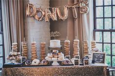 Stacked doughnuts are an easy and inviting way to display your tasty treats.