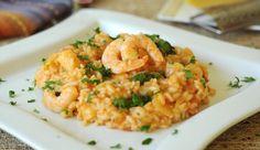 Risotto con Camarones, Espárragos, Chalotas y Tomate   Gourmet