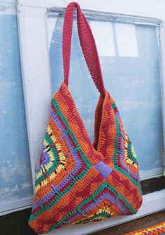 Virkattu kassi SK7/14. Crochet Purse Patterns, Crochet Tote, Crochet Baby Shoes, Crochet Handbags, Crochet Purses, Art Au Crochet, Crochet Crafts, Crochet Simple, Confection Au Crochet