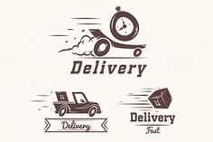 Logo delivery service by Krol on Creative Market