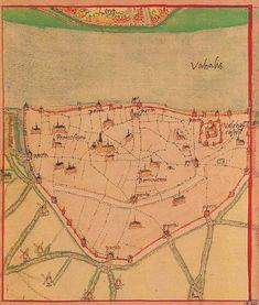 Nijmegen door Jacob van Deventer (ca. 1505-1575)
