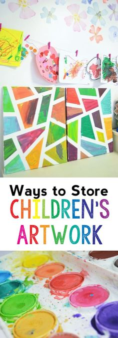 26 Best Storing Kids Artwork Images Displaying Kids Artwork