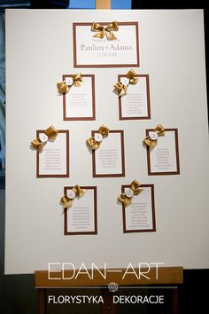 Dekoracje weselne Edan-Art, Kwiaty do ślubu warmińsko-mazurskie.Gardenia Olsztyn #wesele #slub Table Planner, Planners, Place Cards, Tables, Place Card Holders, How To Plan, Weddings, Mesas, Table