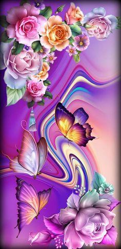 Purple Butterfly Wallpaper, Rose Flower Wallpaper, Wallpaper Nature Flowers, Flowery Wallpaper, Beautiful Landscape Wallpaper, Flower Background Wallpaper, Beautiful Flowers Wallpapers, Heart Wallpaper, Cute Wallpaper Backgrounds