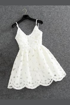 White Lace Homecoming Dresses, Custom Made Homecoming Dresses, Homecoming Dresses Lace, Prom Dress Short, Prom Dress White Prom Dresses 2019 White Homecoming Dresses, Cute Prom Dresses, Trendy Dresses, Short Dresses, Little White Dresses, Ladies Dress Design, Dress Lace, White Lace Dress Short, Short Prom