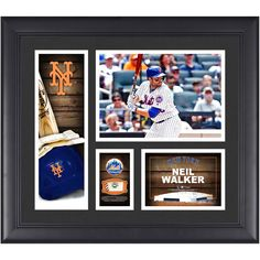 "Neil Walker New York Mets Fanatics Authentic Framed 15"" x 17"" Player Collage with a Piece of Game-Used Ball - $63.99"