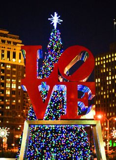 The Annual City Hall Tree Lighting To Take Place At Love Park Next Thursday… Christmas In The City, Christmas Time, Merry Christmas, Xmas, Hallmark Christmas, Les Illuminations, Gomez, Love Park, Brotherly Love