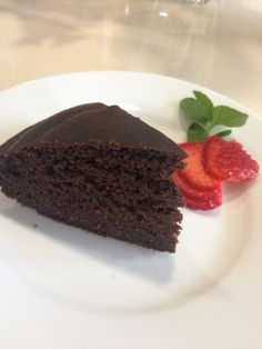 Torta de chocolate limpia. Clean chocolate cake