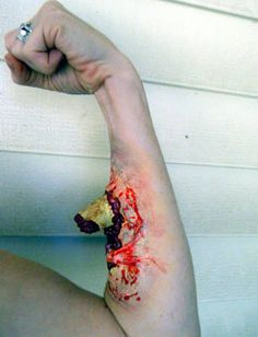 DIY Latex Wound Makeup. For a zombie good time.