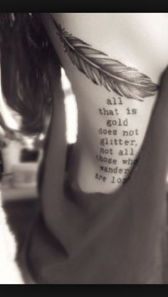 Ribs quote tattoo