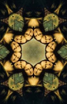 Kaleidoscope by Mr Rallentando. I have a goal of pinning a reinterpretation of Mona Lisa to every one of my boards. There are so many parodies and such diversity, I think this is possible. Fractal Art, Fractals, La Madone, Mona Lisa Parody, Mona Lisa Smile, Famous Artwork, Street Art, Italian Artist, Textures Patterns