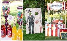 There is plenty of fun and silly things you can add to your wedding day to make it a funfair inspired day