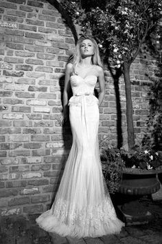 Galia Lahav couture wedding gown mini lace peplum