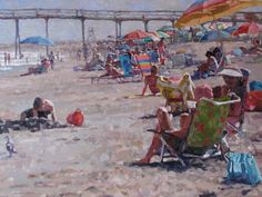 Cameron Smith - August Afternoon  SOLD Cameron Smith, Four Kids, Sea Art, Source Of Inspiration, Great Love, Fine Art Gallery, Will Smith, Ocean, Beach