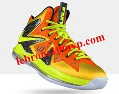 Nike LeBron X PS Elite Tour Yellow Volt Electric Green Sport Orange 08965f776ca9