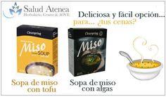 SOPAS DE MISO CON TOFU O DE MISO CON ALGAS http://saludatenea.com/nuevos-productos