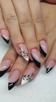 27 - Erogenous Acrylic Stiletto and Different Nails 2020 Winter Designs, Erogenous Acrylic Stiletto and Different Nails 2020 Winter Designs 27 - Wonderful Nail designs of the year 2020 - 1 In winter, stiletto nails ar. Manicure Nail Designs, Acrylic Nail Designs, Nail Manicure, Nail Art Designs, Nails Design, Beautiful Nail Designs, Beautiful Nail Art, Holiday Nails, Christmas Nails