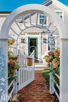 Home at Last - New England Home Magazine Landscape Design, Garden Design, Nantucket Cottage, Outdoor Spaces, Outdoor Decor, Outdoor Ideas, Riverside House, Moon Gate, Forest Color