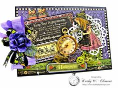 Kwclement's Gallery: Halloween Time Pocket card with Halloween in Wonderland
