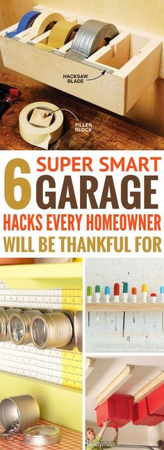 Garage Organization And Storage Ideas that are so WORTH READING!! How did I not come across these amazing organization tips before?! Totally LOVE these diy storage ideas.