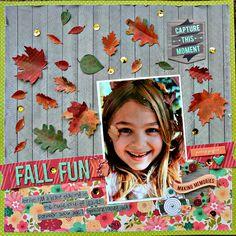 Fall Fun Scrapbook Page by Raechelle Bellus Guest Designer for 3 Birds Design